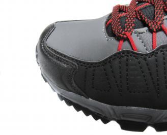 Мъжки спортни обувки Bulldozer черни еко кожа PAUD-20035