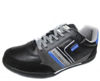 Мъжки спортни обувки Bulldozer черни еко кожа GTLP-20038