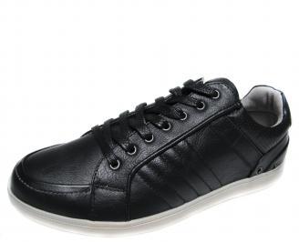 Мъжки спортни обувки Bulldozer черни еко кожа OIGV-20411