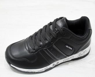 Мъжки спортни обувки  Bulldozer еко кожа черно MXTM-23175