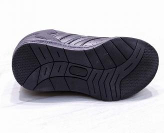 Мъжки спортни обувки Bulldozer еко кожа черно RABE-23190