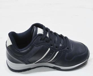 Мъжки спортни обувки Bulldozer еко кожа тъмно сини WWNP-23191