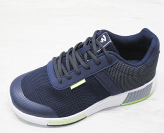Мъжки спортни обувки Bulldozer еко кожа/текстил тъмно сини GSHW-23192