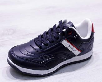 Мъжки спортни обувки Bulldozer еко кожа тъмно сини BQYT-23194