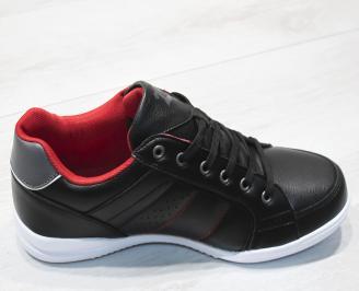 Мъжки спортни обувки Bulldozer черни еко кожа 3
