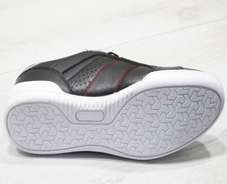 Мъжки спортни обувки Bulldozer черни еко кожа 4