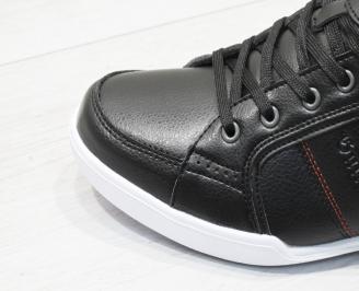 Мъжки спортни обувки Bulldozer черни еко кожа 5