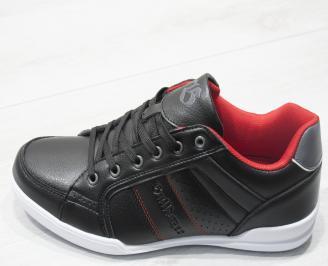 Мъжки спортни обувки Bulldozer черни еко кожа 6
