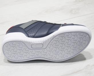 Мъжки спортни обувки Bulldozer  еко кожа тъмно сини WLFG-23748