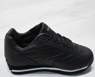 Мъжки спортни обувки Bulldozer  еко кожа черни 3