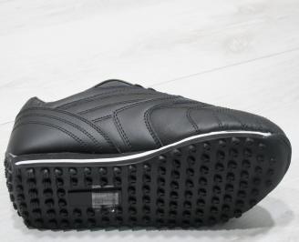 Мъжки спортни обувки Bulldozer  еко кожа черни 4