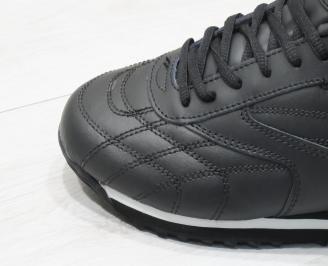 Мъжки спортни обувки Bulldozer  еко кожа черни 5