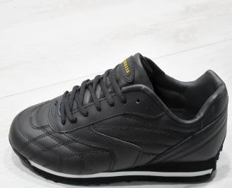 Мъжки спортни обувки Bulldozer  еко кожа черни 6