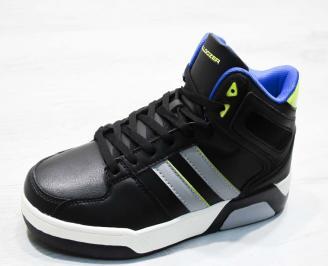 Мъжки спортни обувки Bulldozer  еко кожа черни QPHP-25076
