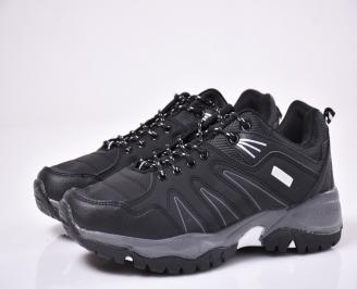 Мъжки спортни обувки черни QBYV-1014278