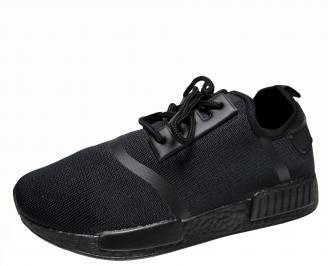 Мъжки спортни обувки черни текстил MVND-21510