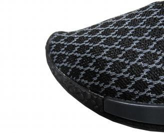 Мъжки спортни обувки черни текстил 4