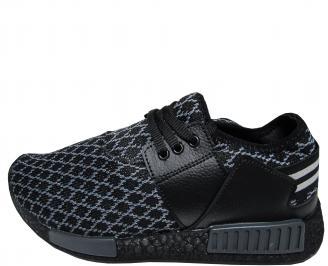 Мъжки спортни обувки черни текстил 6