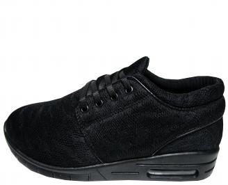 Мъжки спортни обувки черни текстил XAHX-21726