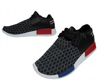Мъжки спортни обувки черни текстил FMNH-21734