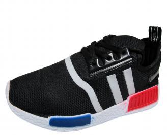 Мъжки спортни обувки черни текстил PTSS-21735