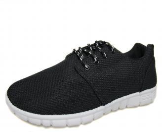 Мъжки спортни обувки черни текстил EVNX-18744