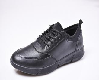 Мъжки спортни обувки еко кожа черни HSEC-1010227