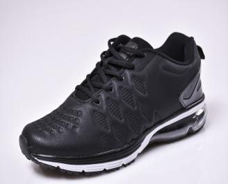 Мъжки спортни обувки еко кожа черни SEWG-1010321
