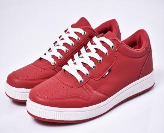 Мъжки спортни  обувки еко кожа червени LVBJ-1010569