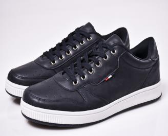 Мъжки спортни  обувки еко кожа сини OPGE-1010574