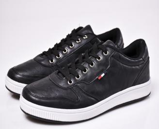 Мъжки спортни  обувки еко кожа черни GVRY-1010576
