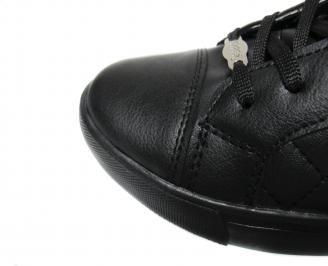 Мъжки спортни обувки еко кожа черни BIOW-20439