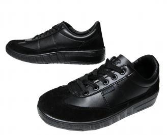 Мъжки спортни обувки еко кожа черни EEXQ-22154