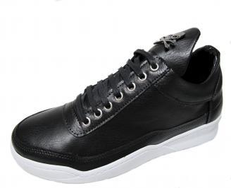 Мъжки спортни обувки еко кожа черни RCAC-22294