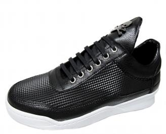 Мъжки спортни обувки еко кожа черни GOTU-22296