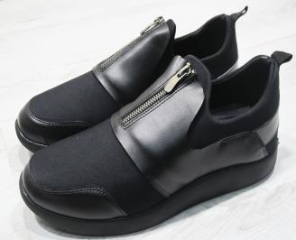 Мъжки спортни обувки еко кожа черни KRZI-23478