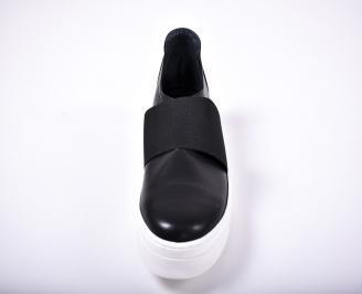 Мъжки спортни обувки естествена кожа черен GEMJ-1011707