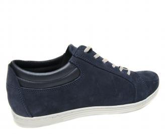 Мъжки спортни обувки естествен набук тъмно сини DKBF-20566