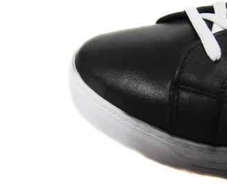 Мъжки  спортни обувки естествена кожа черни BIZE-20595