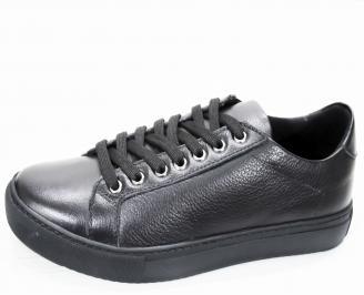 Мъжки спортни обувки естествена кожа черни PCKL-21218