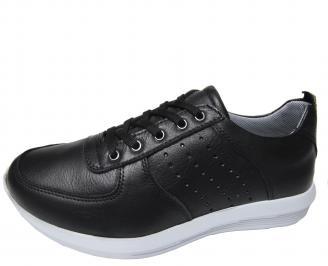 Мъжки спортни обувки естествена кожа черни OWOH-21277