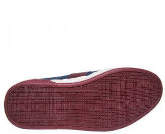 Мъжки спортни обувки естествена кожа  сини MDJY-21282