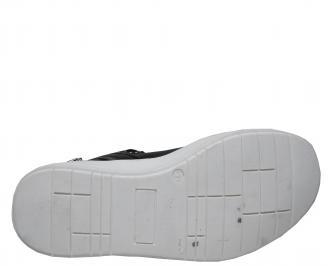 Мъжки спортни обувки естествена кожа черни WPWY-21965