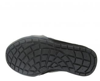 Мъжки спортни обувки естествена кожа черни HTVW-11214
