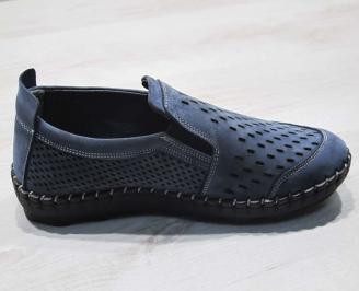 Мъжки спортни обувки естествен набук сини KCCP-24492
