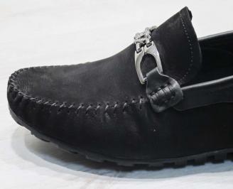 Мъжки спортни обувки естествен набук черни XTQG-24500