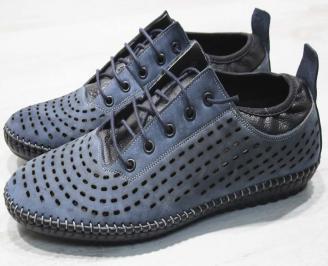 Мъжки спортни обувки естествен набук сини FWRX-24505