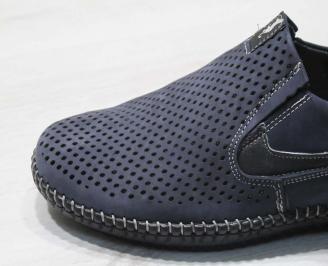 Мъжки спортни обувки естествен набук сини CMGT-24507