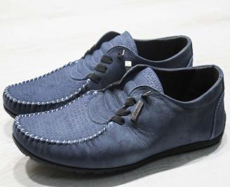 Мъжки спортни обувки естествен набук тъмно сини NLTU-24611