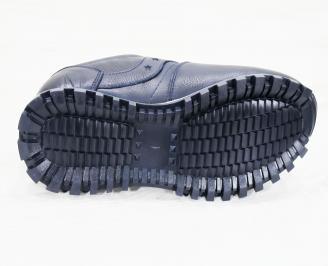 Мъжки спортни  обувки естествена кожа сини MXGP-25248